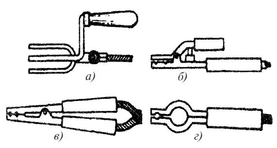 Типы электрододержателей